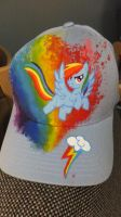 Rainbow Hat by JoelletheNose