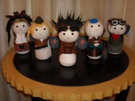 Abney Park Plushies - complete by albinoshadow