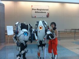 Portal 2 cosplayers by xX2WolfFeather1Xx