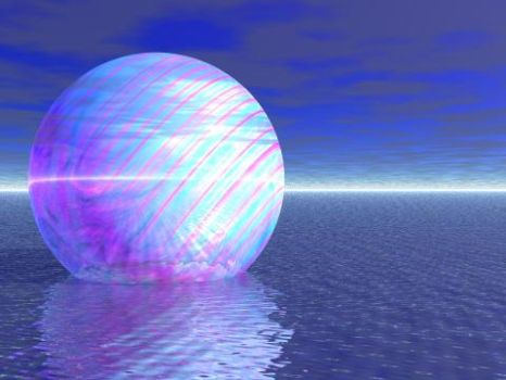 ball with water and sky by cHrOmA11820
