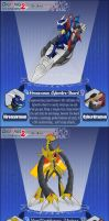 DXT2: Dragon Soul Cybedramon Xrosses by HronawmonsTamer