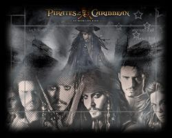 Pirates of the Caribbean Wall. by marty-mclfy