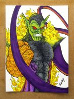 Super Skrull color drawing by DoomCMYK