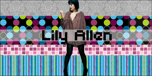 Lily Allen Banner by Ziyaa
