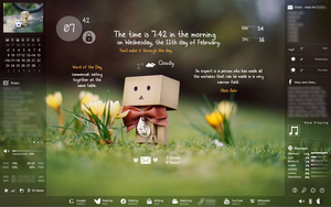 Rainmeter Cute Danbo Setup (Part 2) - Sidebars by cloudedhearts