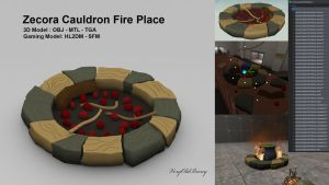 Zecora Cauldron Fire Place by VeryOldBrony