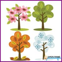 Four Season Trees PNG by HanaBell1