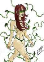 Poison Ivy Inks and Watercolor by E-M-R