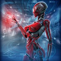 CYBERATONICA. RED ONLINE by Vitaly-Sokol