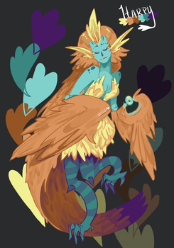 Day 1- Harpy by natouu