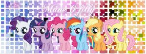 Mane 6 filly by pegasister1000