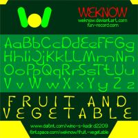 Fruit And Vegetable font by weknow by weknow
