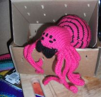 Hot Pink Tarantula by foxymitts