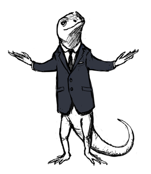 Moriarty is a Lizard by bioluminescentbunny