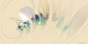 Untitled Watercolor Fractal #1 by allenfingerart