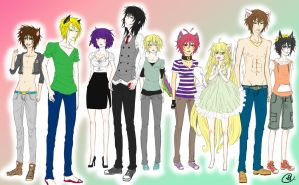 OC Group Picture by ConnieConnConn