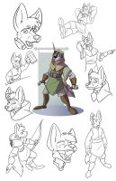 Surksin Model Sheet by CoyoteEsquire