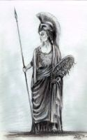 Pallas Athena statue 2 by InKibus