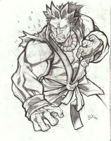 Akuma sketch by SlyAguilar