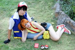 Ash and Misty Cosplay by JhonkunAGM