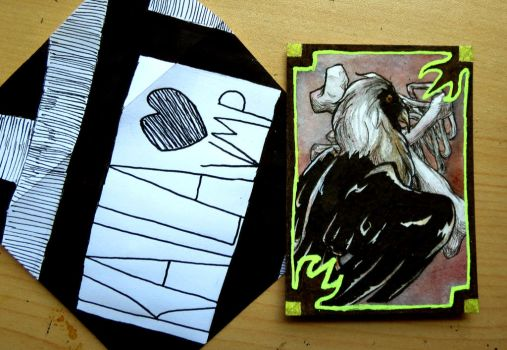 ACEO// Bearded Vulture for KailaVMP by tguillot