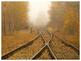 Railway Switches Autumn by StephanKrahn
