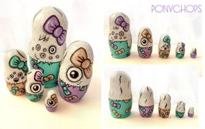 Monster Bows Matryoshka by ponychops