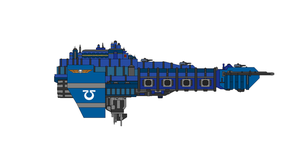 Warhammer 40K Space Marine Attack Cruiser by Seeras