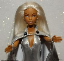 STORM X-Men Custom Repaint Re-root Barbie OOAK by TorresDesigns