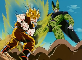 Goku vs Cell- by DBHeroes