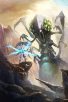 Heroes of the Storm Contest: Tyreal vs Abathur by xvortexbladex
