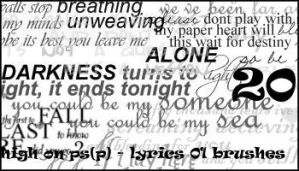 Lyrics 01 brushes by minnie-brushes
