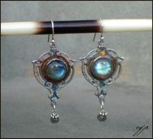 Art Nouveau Earrings by Ellygator