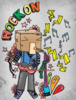 rock on paper head by Camcon