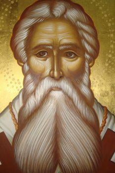 Saint Parthenios icon by stratilatis