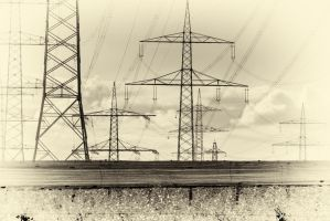 Yet more power lines by Qo-oQ