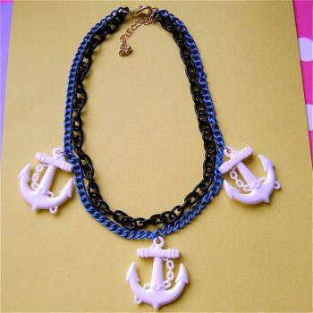 Anchors Away necklace by Quirkz