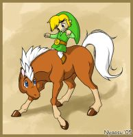 Link and a Horse by Nyaasu