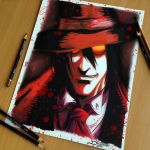 Alucard Pencil Drawing by AtomiccircuS