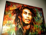 bob marley on my wall by picasso-moon