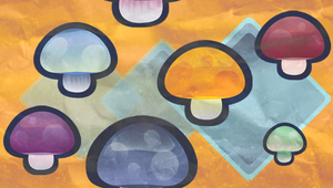 Mushroom Tile Wallpaper by Kna