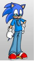 Sonic with clothes by X-ShiningStar-X