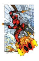 DeadPool Web Color by Cauldron03