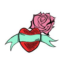 FlowerHeart Tattoo - Colored by RLG4X
