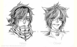 HeadShot Commission: Niles and Oliver by Yaoi-World