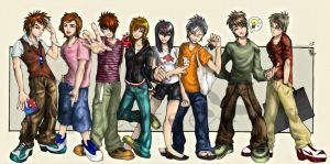 My groupmembers-coloured by pocotee