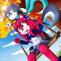 Swinging On The Swing - Contest by SweetSilvy