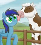 Licked by a cow by otakuap