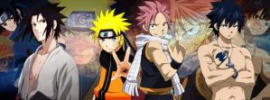 Fairy Tail / Naruto Timeline Cover by evitacarla