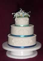 3 Tier Wedding Cake by StargazeSchrecken1